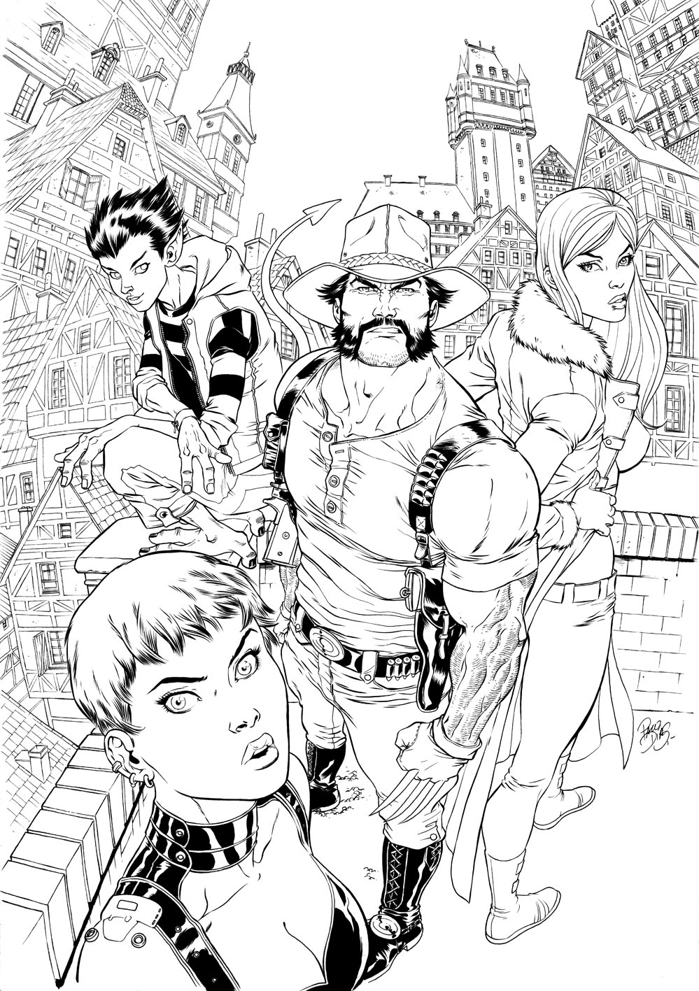 COVER XtremeXmen lineart