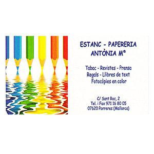 Estanc-Papereria Anònia Mª
